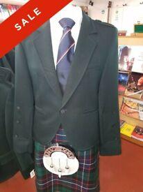 Crail Kilt Jacket - Piper Green - Pipers Pipe Band Jacket