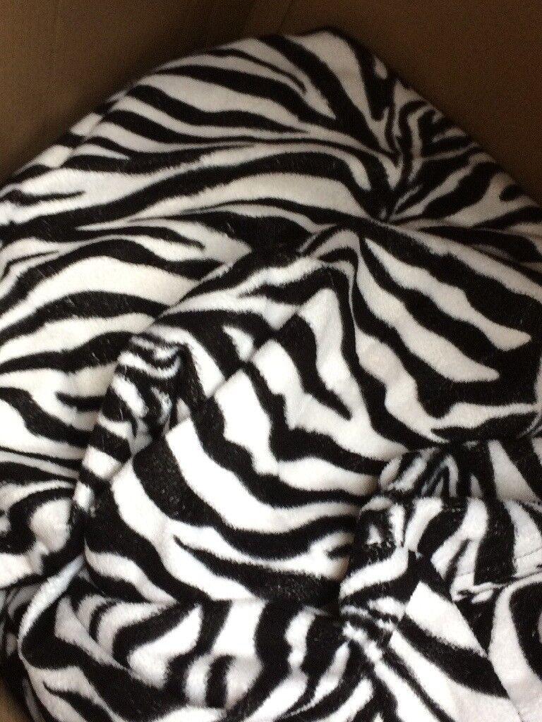 Zebra print giant beanbag