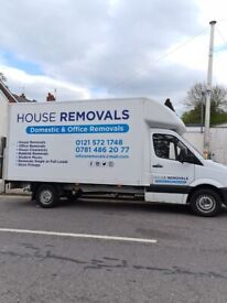 House removals, and clearance men and van for hire, office relocations