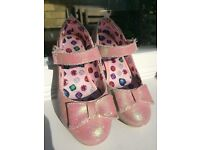 Girls sparkly pink high heel shoes - UK Size 12