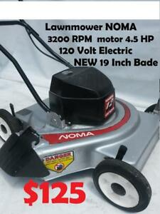 New Blade 19 INCH Electric Lawn Mower Lawnmower NOMA 3200 RPM