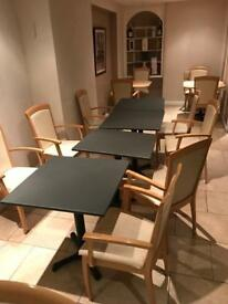 Restaurant job lot tables and chairs for sale
