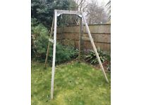 TP Quadpod seat and single wooden swing frame