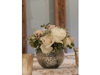 Wedding vases and tea light holders, selection of used vases