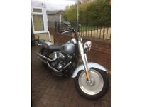 Harley-Davidson FTSTFI Fatboy 1450cc with very low mileage of 9,000 genuine miles
