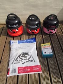 Numatic Henry & Hetty Vacuum Cleaners with New full package pipe/hose/accessory kit