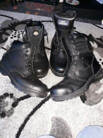 TWO PAIRS WORK BOOTS STEEL CAPS BRAND NEW SIZE 9