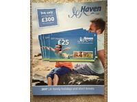 Haven holiday vouchers