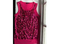 Girl's sequinned tunic tank top