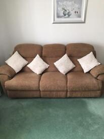 3 seater settee and 2 chairs virtually brand new