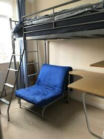 High sleeper bed, futon, bunk bed, desk