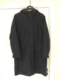Joules Navy Rain Hooded Jacket Coat (size 14)