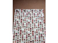 Orange and red spotted cream curtains and cushions set