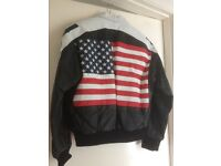 Unique ladies leather Stars and Stripes jacket from America