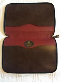Leather laptop/document case