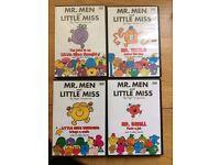 4 x Mr Men & Little Miss DVD's