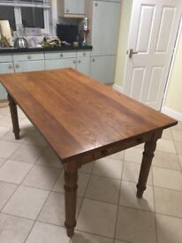 Country Kitchen table English Oak hand made by Elliot Crown of Lowestoft