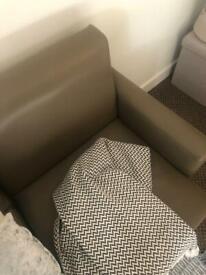 Vinyl brown sofa