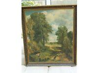 Large Framed Gainsborough / Gainsbrough-style Print Mounted On Hardboard