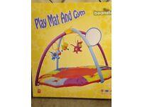 Baby play mat & gym as new beanstalk 0+ cow pig sheep mirror