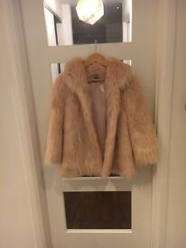 GIRLS FAUX FUR PINK JACKET/COAT FOR WINTER AND PARTIES!