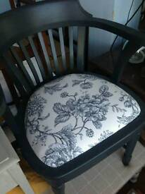 Oak elbow office chair