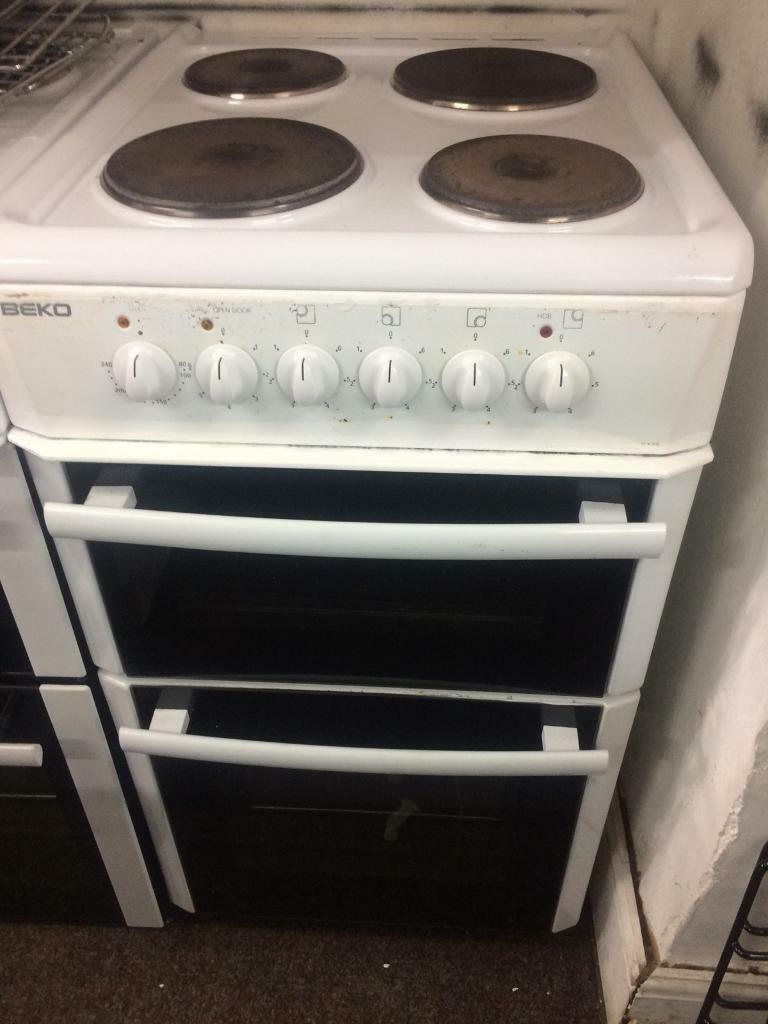 White beko 50cm electric cooker grill & oven good condition with guarantee bargain