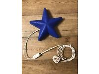 Wall Light Star Blue - Kids Bedroom Night Light
