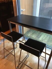 Selling Ikea bar table and 2 bar stools