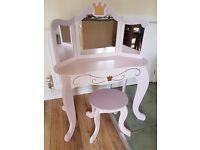 Kidcraft Princess Vanity Table and Stool