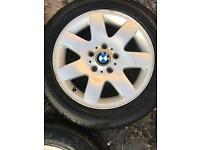 BMW e46 alloys with 5 brand new tyres wheels set of 5