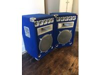 Soundlab Blue PA speakers