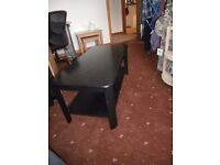 Table - Black coffee table *REDUCED PRICE*