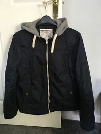 Men's casual navy hooded jacket and navy hoodie sz L
