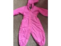 Girls regatta all in one waterproof coat 2-3