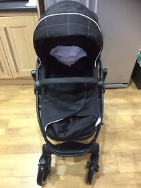 Nearly New Graco Evo XT Pushchair AND Graco Snugfix 0+ Car Seat - Black