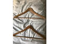Good quality wooden hangers - 6 for £2