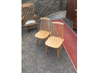 Stick back dining chairs Ercol style