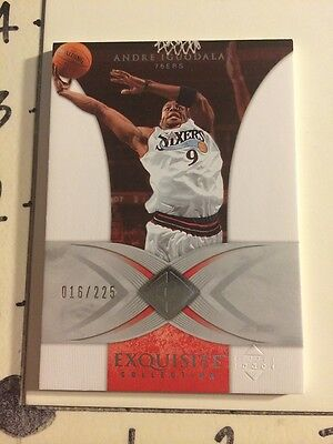 2006-07 Exquisite ANDRE IGUODALA #32 Premium SP/225 Golden St WARRIORS Wildcats