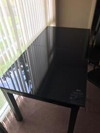 New glass table