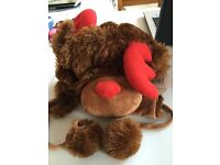 BRAND NEW!! Novelty REINDEER Hat!!! ONLY £10!!! - Warm - Cute – Cuddly & FUNNY!! Not to be missed!!!
