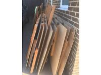 Firewood or DIY project timber and plywood