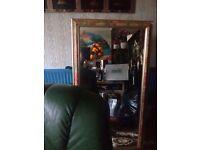 Large flowerd mirror forsale