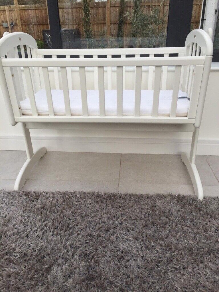 separation shoes 57f66 601fc John Lewis Swinging Crib with mattress- barely used | in Exeter, Devon |  Gumtree