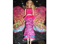 Barbie - A Fairy Secret doll with 'flip-up' wings and length adjustable skirt. Pre-loved