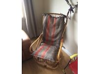 Wicker rocking chair with cushion set