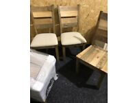 Four new solid wood chairs