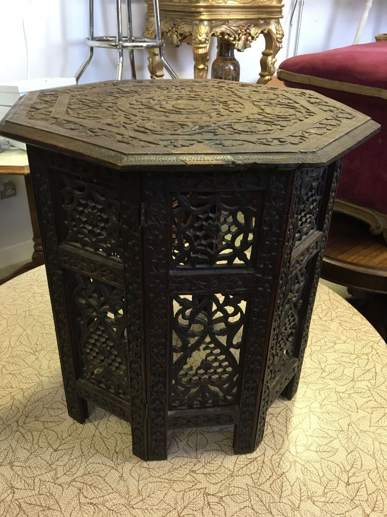 Vintage Antique Coffee Table African Carved Table