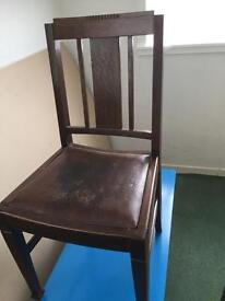 4 Solid wood chairs 1930/40s