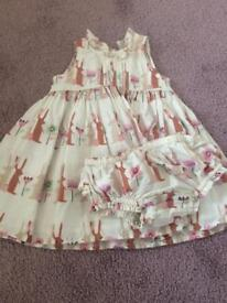 6-9mth Next dress with matching knickers